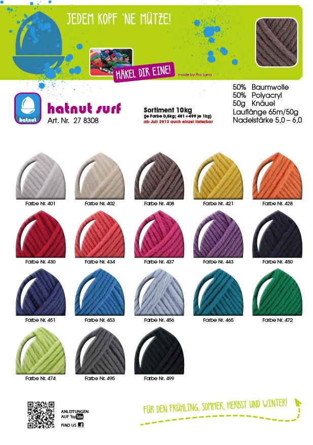 hatnut surf Farbkarte
